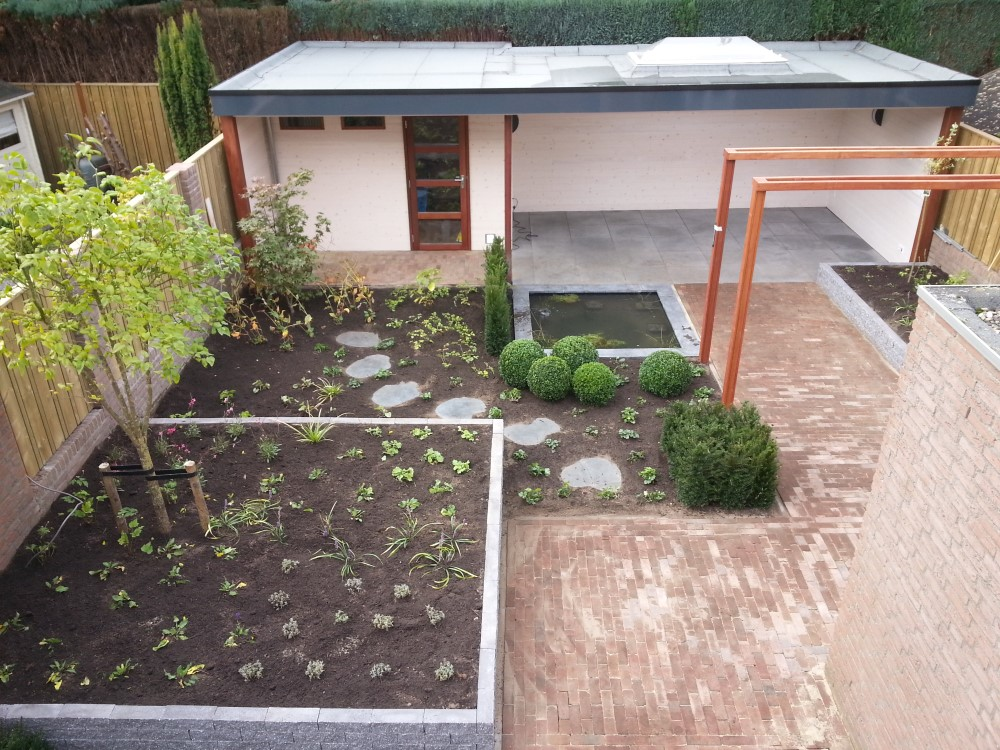 Bovenaanzicht tuin Den Dungen