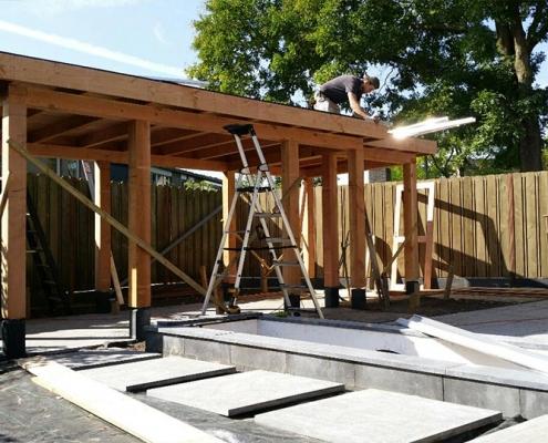 Douglasoverkapping | Moderne tuin Rosmalen