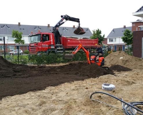 Grondwerk bij tuin in Rosmalen