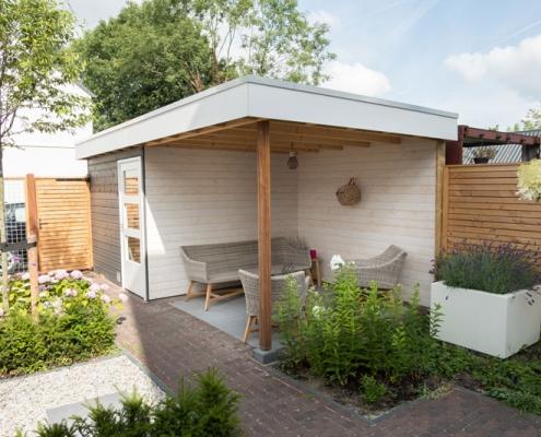 Strakke tuin in Den Bosch